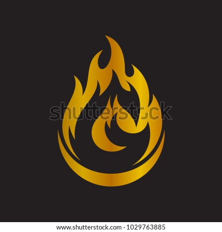 Fire Logo With Letter G Initial Template
