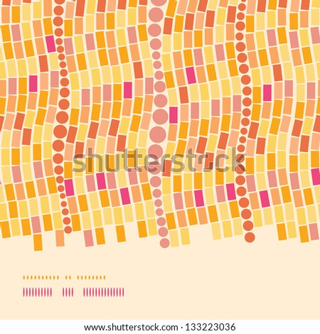 Fire mosaic tiles seamless horizontal border pattern background