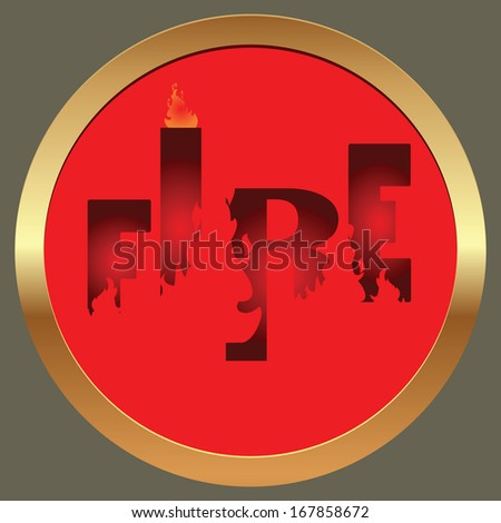 fire sign,fire symbol,fire text,vector fire symbol,fire hand lettering,handmade calligraphy,calligraphy with fire.editable illustration  - stock vector