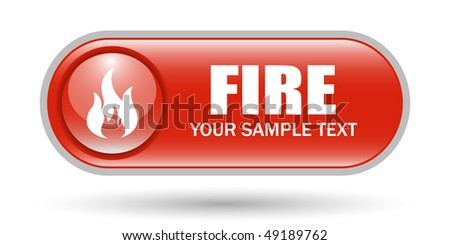 Fire Sign Icon with Copy Space - stock vector