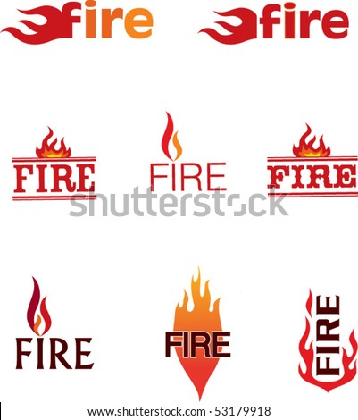 fire symbol #1 - stock vector