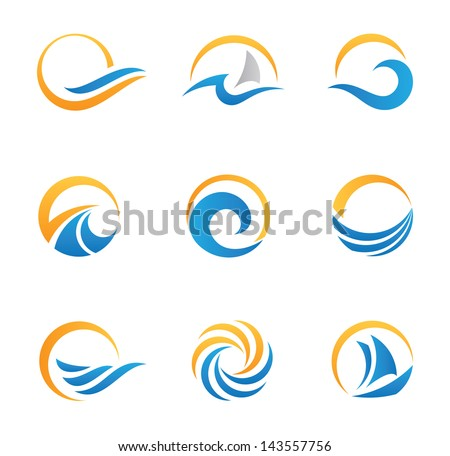 Fire symbol and icon - stock vector