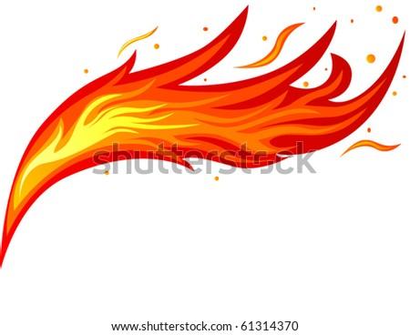 Fire tongue - stock vector