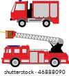 Fire truck vector illustration - stock vector