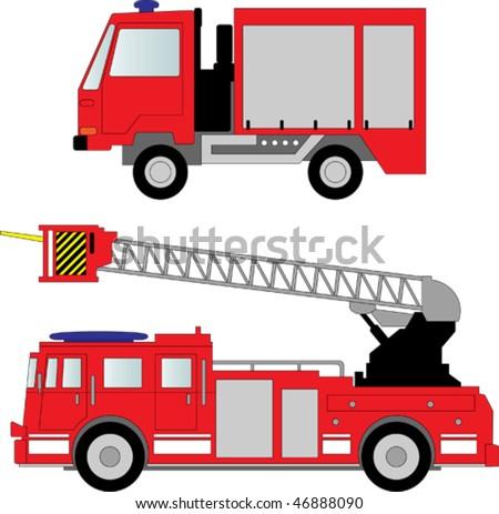 Fire truck vector illustration - stock vector