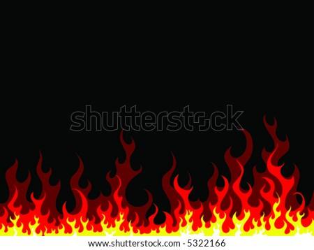 fire-vector - stock vector