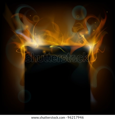 fire vector background - stock vector