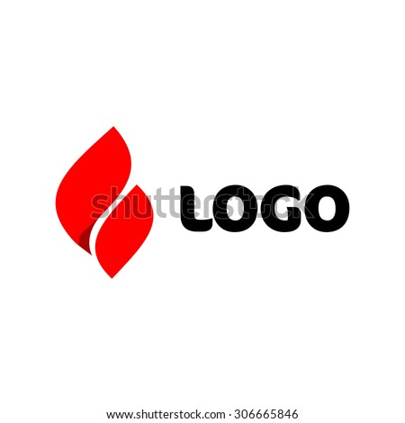 Fire vector logo. Elegant red flame icon. - stock vector