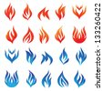 Fire Vector Set - stock vector