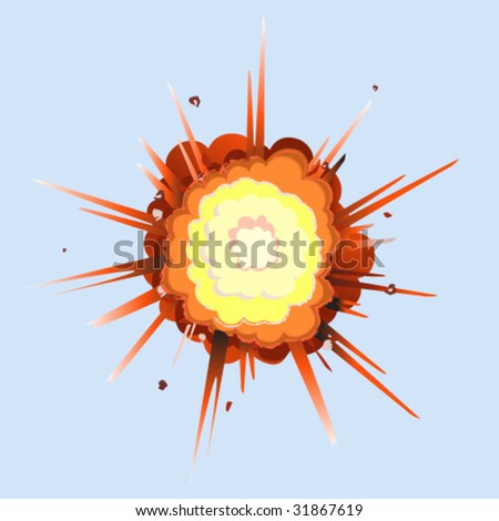 Fireball Explosion - Vector Illustration - stock vector