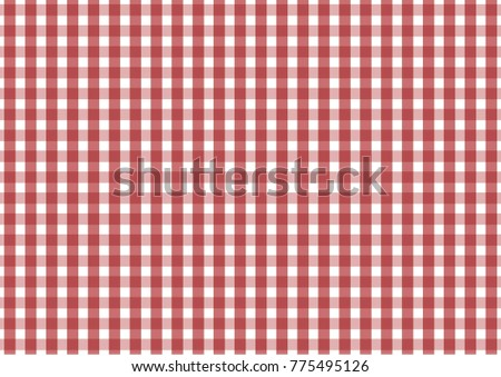 Firebrick Gingham red and white pattern. Texture from rhombus/squares for - plaid, tablecloths, clothes, shirts, dresses, paper and other textile products. Vector illustration.