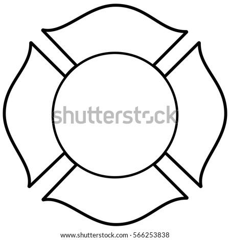 firefighter maltese cross illustration stock vector 566253838 rh shutterstock com maltese cross vector image maltese cross vector art free eps