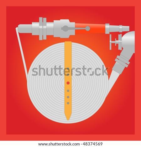 Firefighter pipe - stock vector