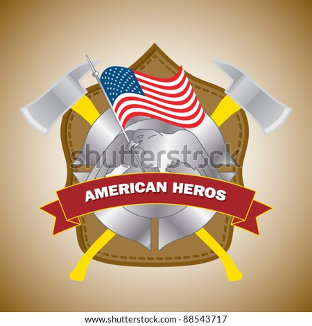 Firefighter Badge Stock Vector 87888121 Shutterstock