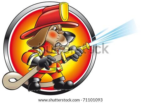 fireman icon - stock vector