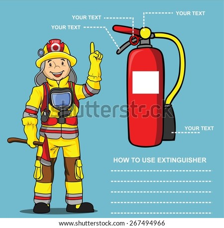 FIREMAN PRESENTATION HOW USING EXTINGUISHER