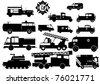 Fireman Silhouette - stock vector