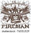 Fireman Symbol - stock