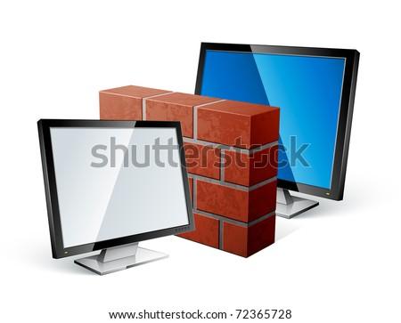 firewall concept - stock vector