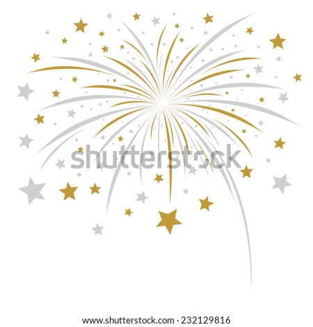 Firework design on white background  - stock vector