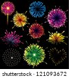 Firework Set - stock vector