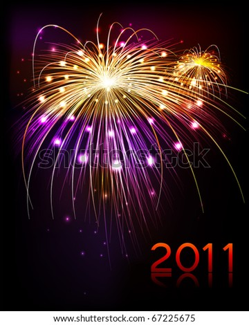 fireworks 2011 - stock vector