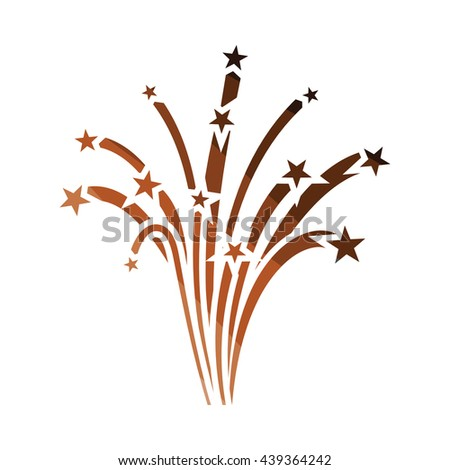 Fireworks icon. Flat color design. Vector illustration. - stock vector