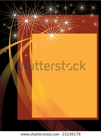 Fireworks Presentation - stock vector