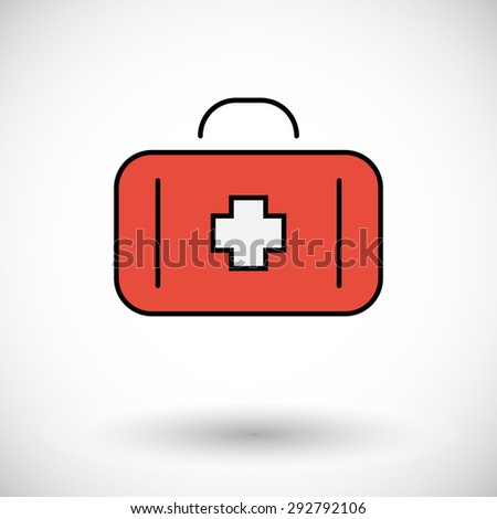 First aid. Flat icon for mobile and web applications. Vector illustration. - stock vector