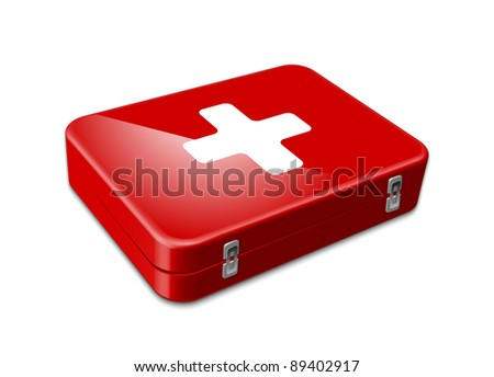 First aid icon. Vector illustration - stock vector
