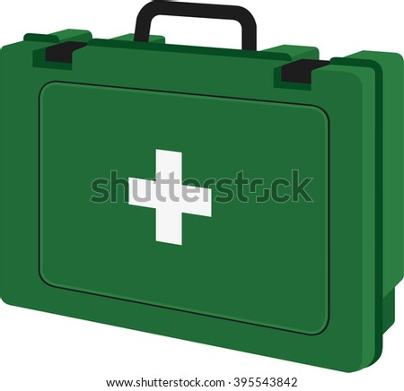 First aid kit - stock vector