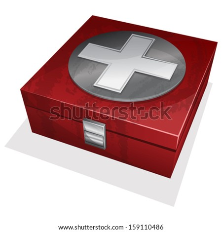 First aid kit box.  - stock vector