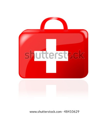 first aid kit vector - stock vector