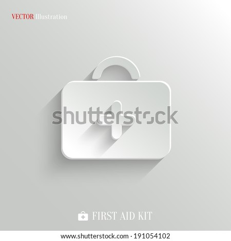 First aid. Medical Kit icon - vector web illustration, easy paste to any background - stock vector