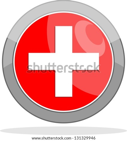 First aid medical sign - stock vector