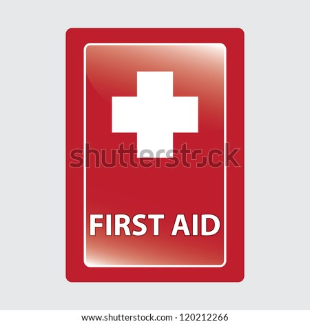 First aid  over red medical background. vector illustration - stock vector