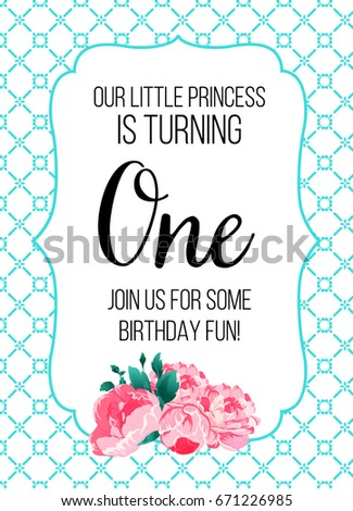 First birthday invitation girl first birthday stock photo photo first birthday invitation girl first birthday stock photo photo vector illustration 671226985 shutterstock stopboris Choice Image