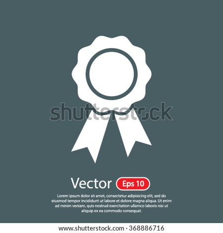 First place award icon. One of set web icons - stock vector