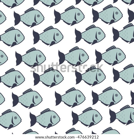 fish animal background decoration pattern sea life vector illustration