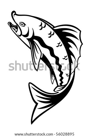 Fish as a fishing symbol. Jpeg version also available in gallery - stock vector