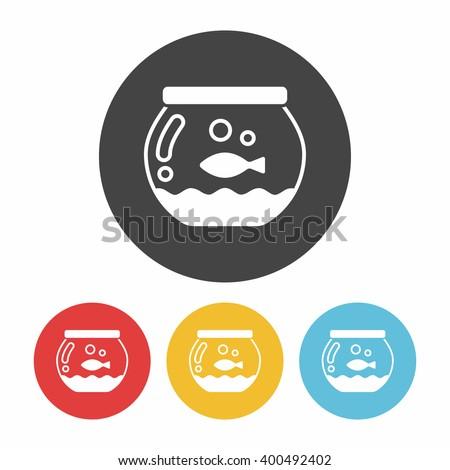 fish bowl icon - stock vector