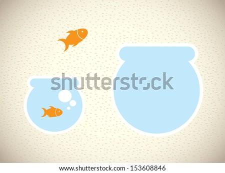 fish design over pattern background vector illustration  - stock vector