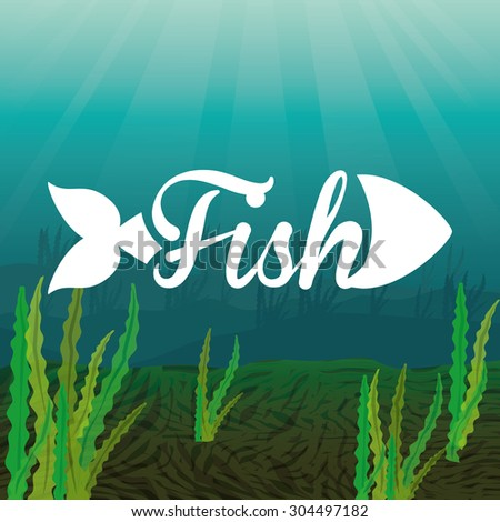 Fish digital design, vector illustration 10 eps graphic - stock vector