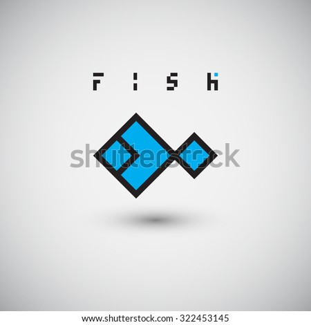 fish logo abstract design vector template stock vector royalty free