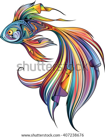 Fish motley - stock vector