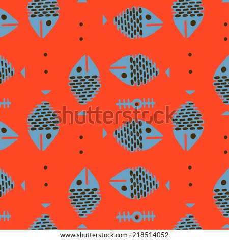 Fish pattern. - stock vector