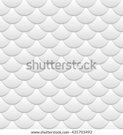 Fish Scales seamless pattern - vector illustration - stock vector