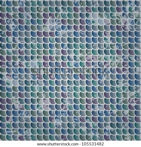 Fish scales vector texture - stock vector