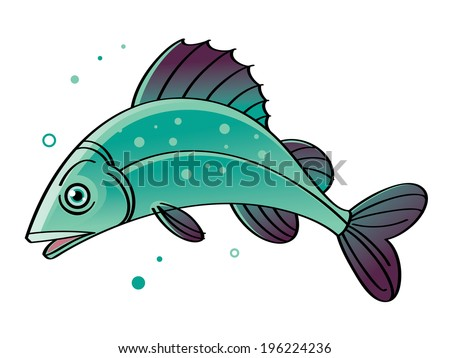 Fish - swimming in the water sea fish - stock vector