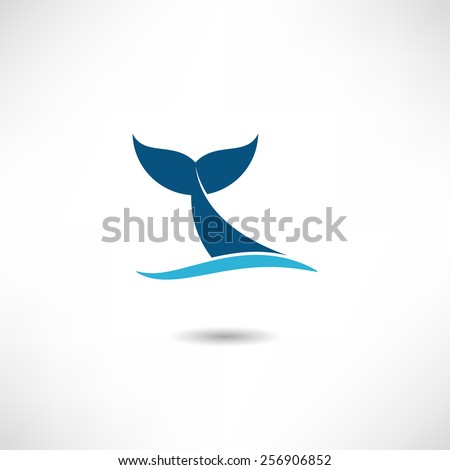 Fish tail icon - stock vector